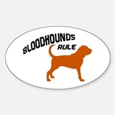 Bloodhounds Rule Oval Decal