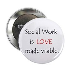 Social Work is Love Buttons (10 pack)