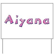 Aiyana Pink Giraffe Yard Sign