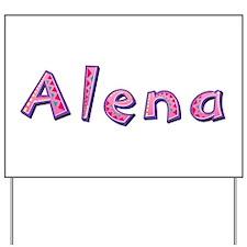 Alena Pink Giraffe Yard Sign