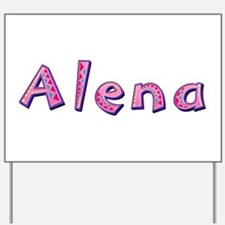 Alena Pink Giraffe Yard Sign
