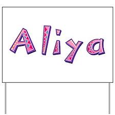 Aliya Pink Giraffe Yard Sign
