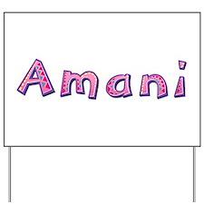 Amani Pink Giraffe Yard Sign