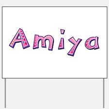 Amiya Pink Giraffe Yard Sign