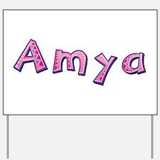 Amya Pink Giraffe Yard Sign