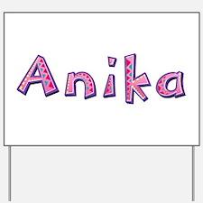 Anika Pink Giraffe Yard Sign