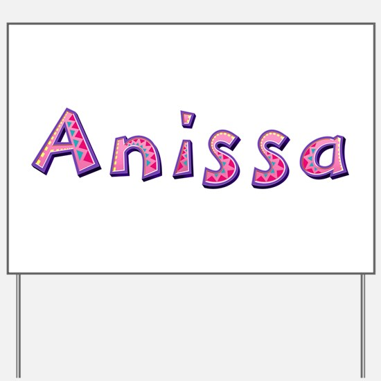 Anissa Pink Giraffe Yard Sign