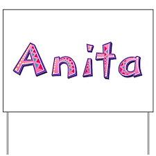 Anita Pink Giraffe Yard Sign