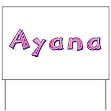 Ayana Pink Giraffe Yard Sign