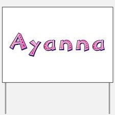 Ayanna Pink Giraffe Yard Sign