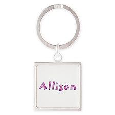 Allison Pink Giraffe Square Keychain