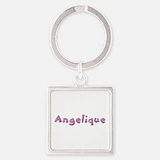 Angelique Pink Giraffe Square Keychain