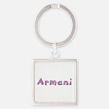Armani Pink Giraffe Square Keychain