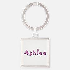 Ashlee Pink Giraffe Square Keychain