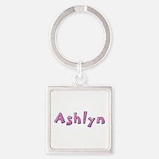Ashlyn Pink Giraffe Square Keychain