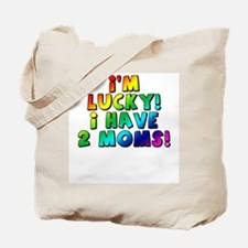 Lucky, two mommies Tote Bag