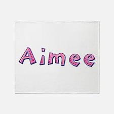 Aimee Pink Giraffe Throw Blanket