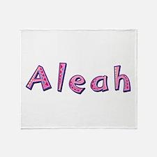 Aleah Pink Giraffe Throw Blanket