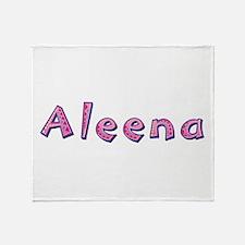 Aleena Pink Giraffe Throw Blanket