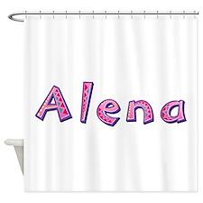 Alena Pink Giraffe Shower Curtain