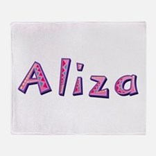 Aliza Pink Giraffe Throw Blanket