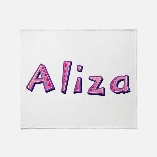 Aliza Pink Giraffe Throw Blanket