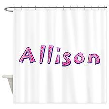 Allison Pink Giraffe Shower Curtain