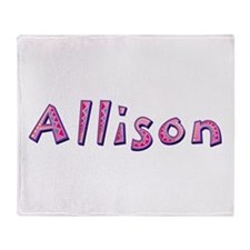 Allison Pink Giraffe Throw Blanket