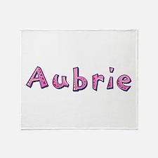 Aubrie Pink Giraffe Throw Blanket