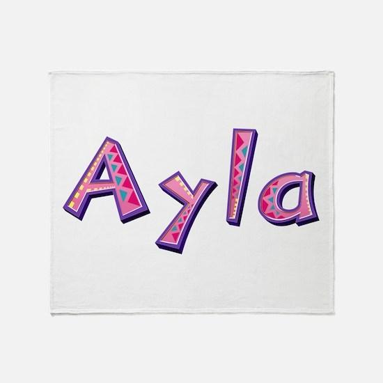 Ayla Pink Giraffe Throw Blanket