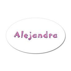 Alejandra Pink Giraffe 20x12 Oval Wall Decal