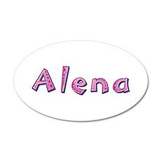 Alena Pink Giraffe Wall Decal