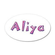 Aliya Pink Giraffe Wall Decal