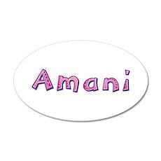 Amani Pink Giraffe 20x12 Oval Wall Decal