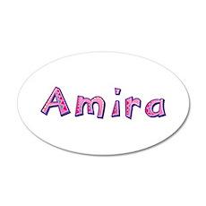 Amira Pink Giraffe Wall Decal