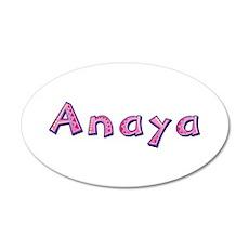 Anaya Pink Giraffe 20x12 Oval Wall Decal