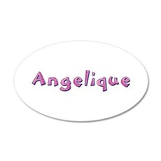 Angelique Pink Giraffe Wall Decal