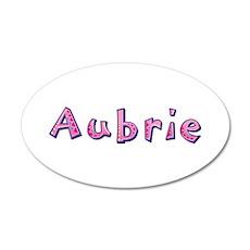 Aubrie Pink Giraffe Wall Decal