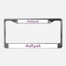 Aaliyah Pink Giraffe License Plate Frame