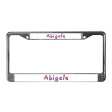 Abigale Pink Giraffe License Plate Frame