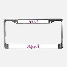 Abril Pink Giraffe License Plate Frame