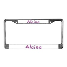 Alaina Pink Giraffe License Plate Frame