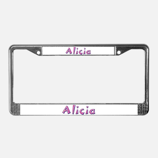 Alicia Pink Giraffe License Plate Frame