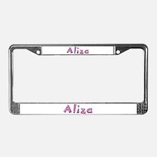 Aliza Pink Giraffe License Plate Frame
