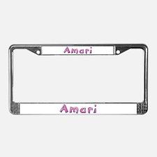 Amari Pink Giraffe License Plate Frame