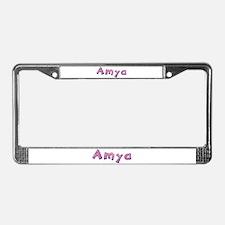 Amya Pink Giraffe License Plate Frame