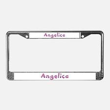 Angelica Pink Giraffe License Plate Frame