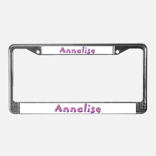 Annalise Pink Giraffe License Plate Frame
