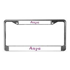 Anya Pink Giraffe License Plate Frame