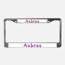 Aubree Pink Giraffe License Plate Frame